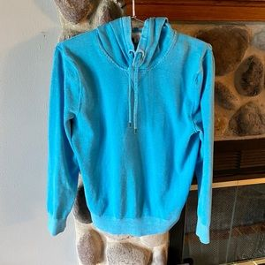 GAP Teal Heather Women's Hoodie, Size Medium